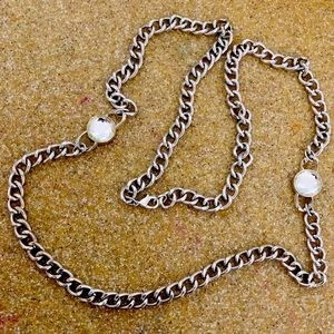 Chunky Chain Necklace with Large Rhinestones